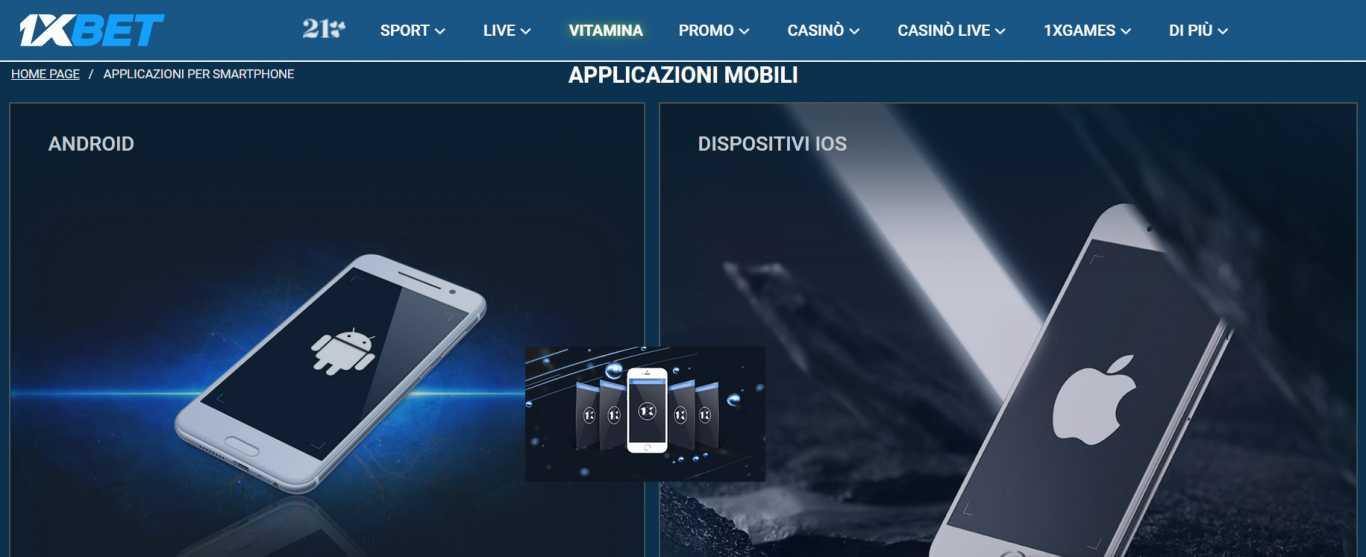 1xBet Mobile per iPhone e Android: un'app apk per tutti i gusti